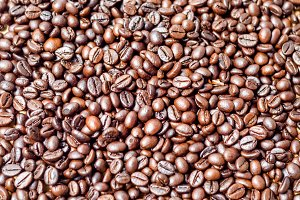 abstract pattern coffee beans