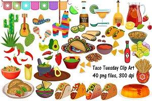 Taco Tuesday Clip Art, Cinco de Mayo