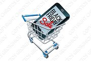 Black Friday Sale Mobile Phone Trolley Sign