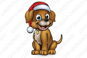 Cartoon Christmas Pet Dog