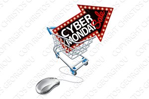 Cyber Monday Sale Online Shopping Trolley Mouse