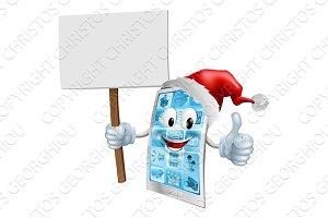 Christmas sign mobile phone