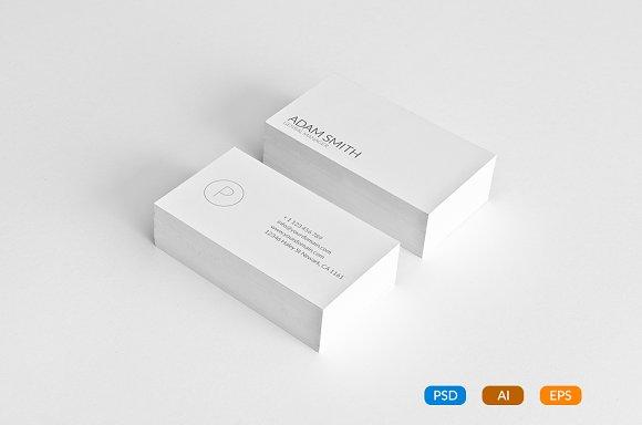Simple Minimal Busines Card Template Business Card Templates