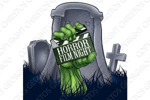 Horror Film Zombie or Monster Clapper Board Sign