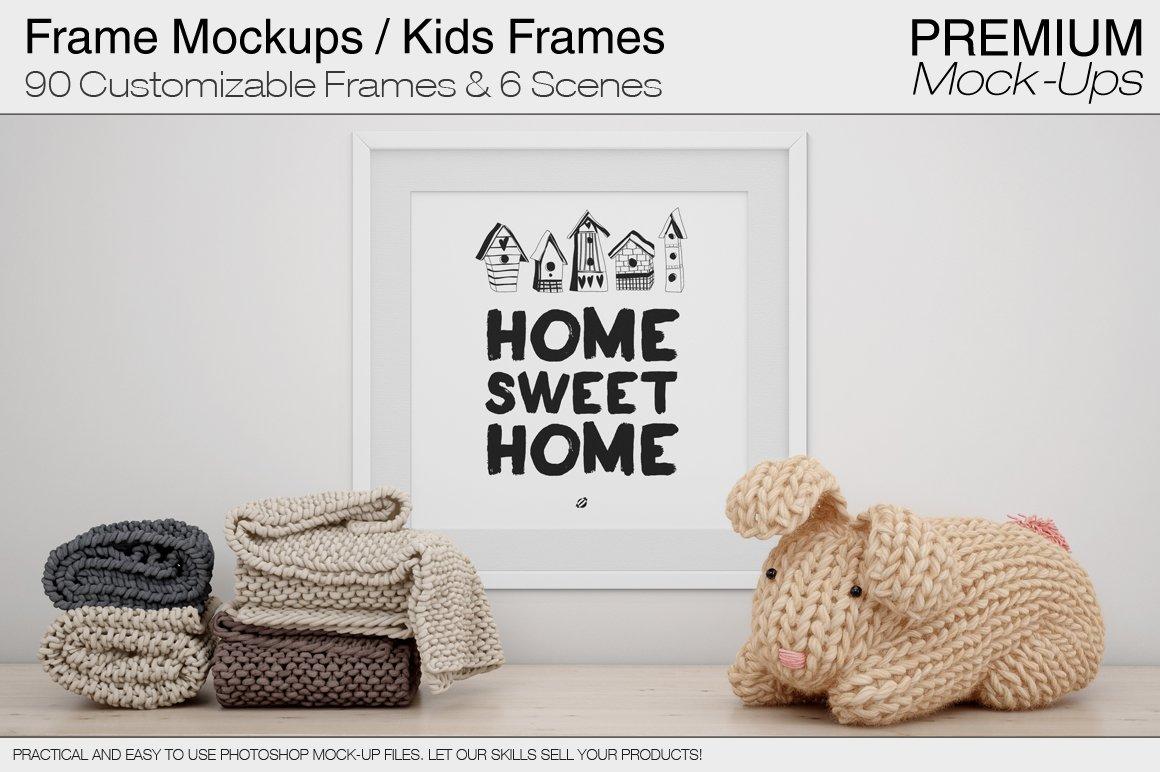 Frames Kids Room Mock Ups