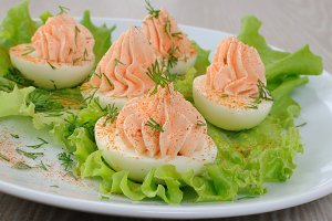 Eggs stuffed