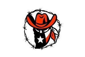 Texan Outlaw Texas Flag Barb Wire