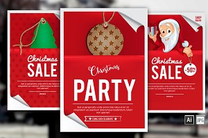 8 Christmas backgrounds for Posters