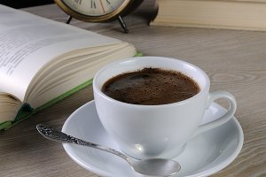 hour to drink a cup of coffee