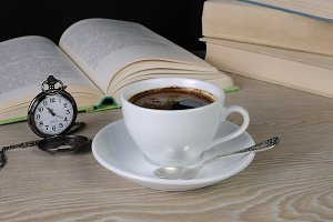 time to drink a cup of coffee