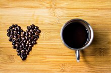 valentine in coffee beans
