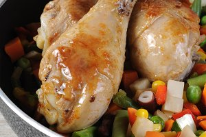 Roasted chicken drumstick