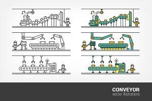 Line art conveyor system