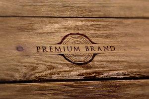 Premium Rustic Logo & Mock-Up