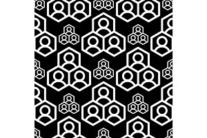 Abstract geometry square seamless pattern black geometric graphic texture background vector illustration wallpaper