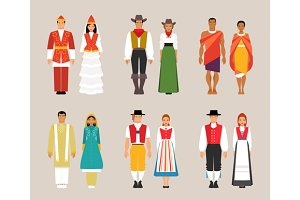 Collection of national costumes