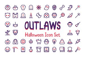 Outlaws Halloween Icon Set