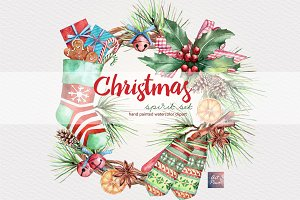 Christmas Spirit Watercolor set