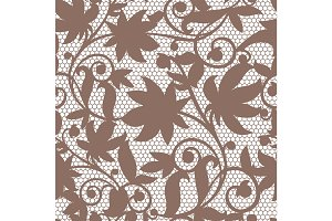 Vintage floral seamless pattern decorative vintage texture swirl background vector illustration