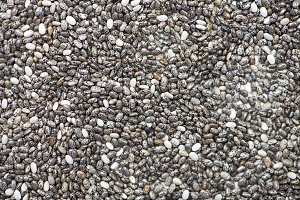Background of chia seeds. Food.