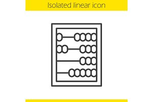 Abacus linear icon