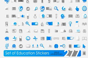 277 icons. Education stickers