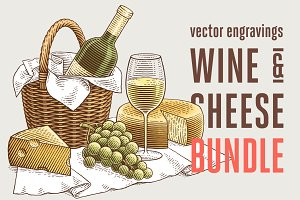 Wine and cheese bundle