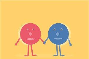 Friendship concept doodle