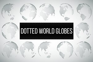 2 in 1-Dotted world globes