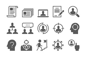 Headhunting Vector Icons