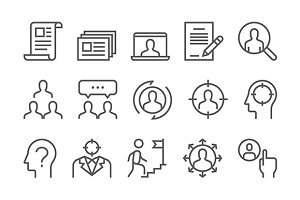 Headhunting Vector Line Icons