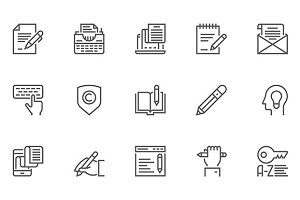 Copywriting Vector Line Icons