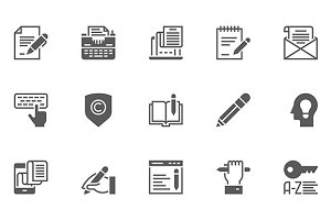 Copywriting Vector Icons