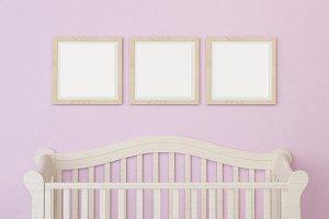 Baby Mockup Room frame wood