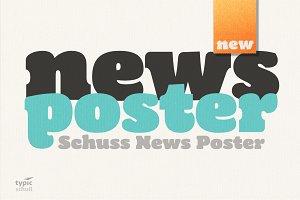 Schuss News Poster 1 Font