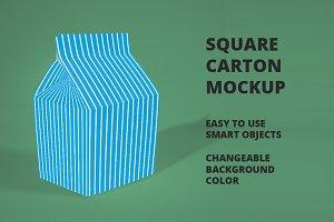 Square Carton Mockup