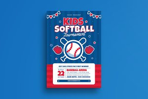 Kids Softball Tournament Flyer
