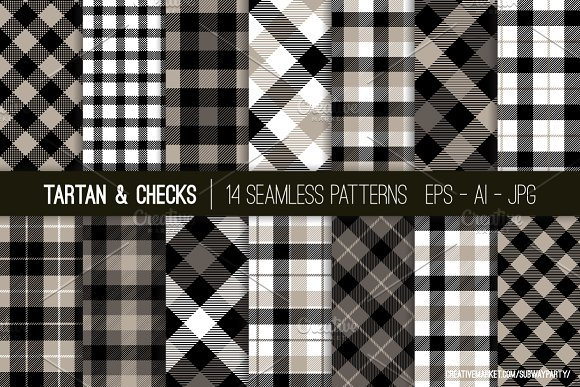 Vector Tartan Checks Patterns Graphic Patterns Creative Market Mesmerizing Check Pattern