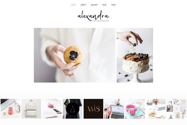 WordPress Minimal Themes: Kelly Brito - Alexandra - Wordpress Minimal Theme