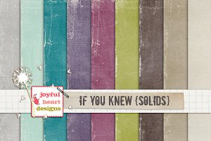 If You Knew {solids} - 20% off! :)