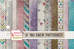 If You Knew {patterned}- 20% off! :)