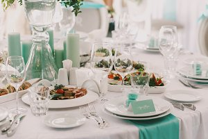 Dinner table served