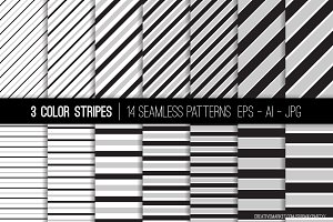 Vector 3 Color Stripes Patterns