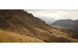 Panoramic view of the hills in Armenia wide screen