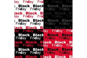 Cute set of Black Friday sale seamless patterns in contrast colors