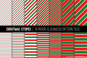 Christmas Red Green Stripes