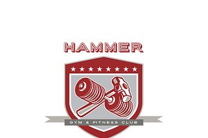 Hammer Gym Fitness Club Logo
