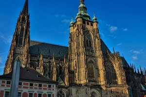 St. Vitus Cathedral in Prague Castle, Prague, Czech Republic