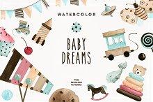 Watercolor Baby Dreams