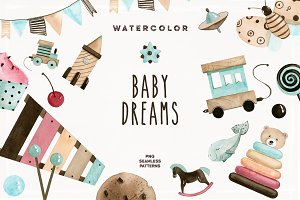 Watercolor Baby Dreams
